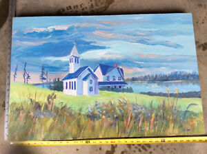 Original Canadian Art Acrylic in thick canvas Emma Lake