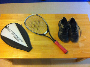 Squash racquet junior and shoes