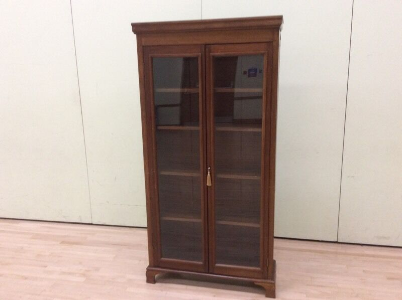 Dark Wood Display Cabinet with Shelves | in Camberley, Surrey ...