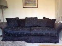 2 large sofa's