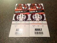 Two adult Tiger tickets Friday, November 27