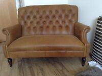 Buffalo leather settee (Laura Ashley)