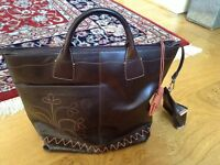 Brown leather Radley handbag-unused.