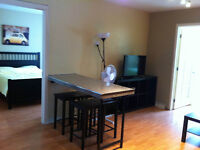 Furnished, renovated, EVERYTHING incl, 3 bdrm on Crescent St.
