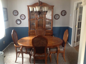 China Cabinet + Hutch, Dining Table + Chairs, solid wood MINT