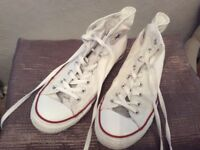 Men's white Converse All Star High top size 10
