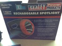 SEALEY RECHARGEABLE SPOTLIGHT
