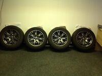 "Land Rover Range Rover Evoque Freelander 2 alloys and tyres 18"" grey gunmetal"