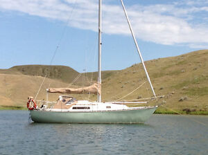 1982 C&C 30 Mk 1 sailboat with trailer