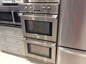 Stainless steel double wall ovens