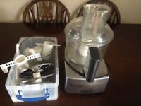 Magimix 3200 Compact Food Processor Satin Steel original accessories and instructions Great Cond!