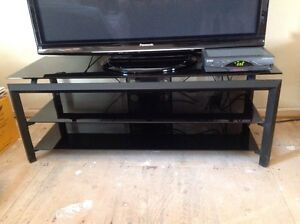 BEAUTIFUL BLACK MEDIA & TV STAND - MUST GO!! MAKE OFFER
