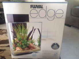 Fluval Edge 46 litre aquarium with cabinet