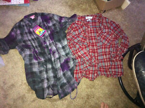 Women's Plaid Tops-Size Large Kingston Kingston Area image 1