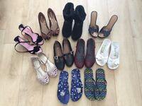Boots, heels, shoes & flip flops size 4