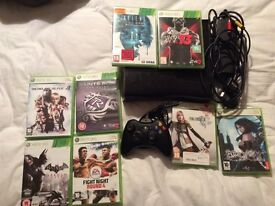 Xbox 360 Slim, 250GB. 8 Games and 1 official Pad.