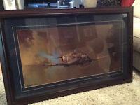 Framed Spitfire Print by Barrie AF Clark.
