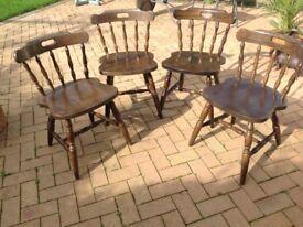 Farmhouse style chairs x4
