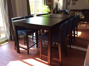 IKEA Bjursta bar table and chairs Cambridge Kitchener Area image 1