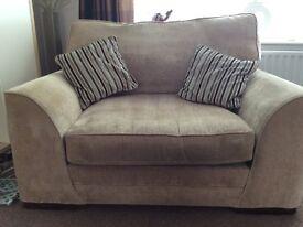 4 seater sofa and snuggle sofa