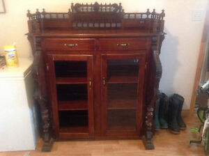 Antique organ made into cabinet