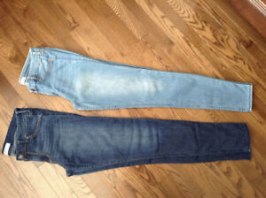 Two pair of Hollister skinny jeans