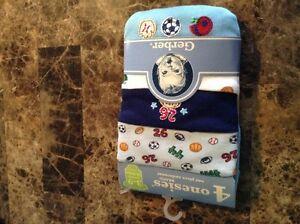 4-pack Gerber onesies - New