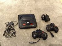 Sega megadrive with 2 controllers