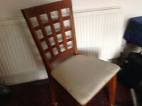 High back chair dining , kitchen or bedroom . Etc