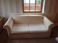Double Sofa Bed in Cream