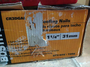 Brand new ina box Bostitch Coil Roofing Nails, 1-1/4-in, 7200-pk