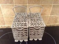 2 X Dishwasher Cutlery Baskets