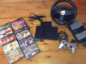 Play Station 2 (PS2) +volant +8 jeux +++