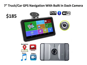 "7"" GPS Truck/Car Navigation With Dash Cam"