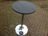 Black & Chrome Gas Lift Black Bar Table (x3)