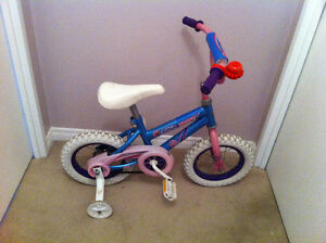 Shift'n Gears bike 12 size (for 3-4 yr old) &  training wheels