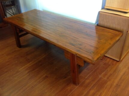 Large Timber coffee table Melbourne Region Preview