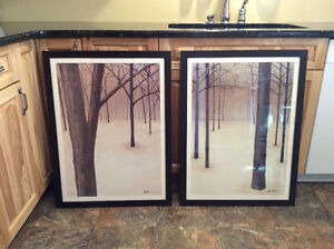 Pair of Custom Framed Wall Art Pictures