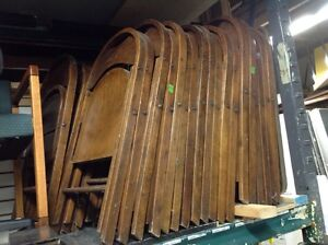 ANTIQUE ROUND TOP WOODEN FOLDING CHAIRS Kitchener / Waterloo Kitchener Area image 6