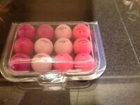 Ladies Pink Srixon / Callaway Golf Balls x 32. Pearl Condition