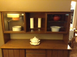 DANISH MODERN BUFFET AND HUTCH IS MID-CENTURY