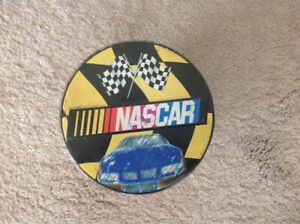 NASCAR Collectible Round Tin Can Canister