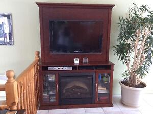 Baisse de prix: Meuble-foyer pour télé