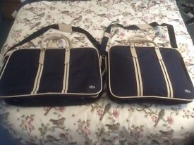 2 x Genuine LACOSTE suitcase luggage, very stylish, excellent condition £80