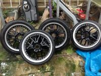 Alloys with tyres multi fit