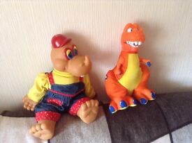 2 Children's Toy Dinosaurs from ages 12 months +