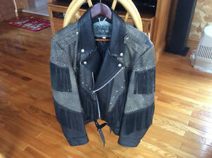 Manteau en cuir véritable
