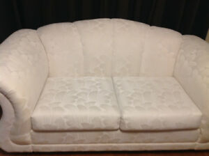 Beautiful white couch and chair