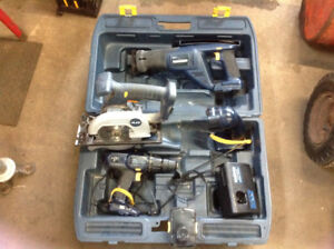 Mastercraft Cordless Tools with charger.