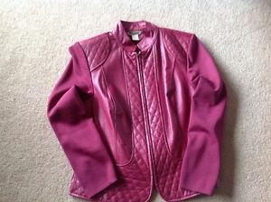 Nygard leather/rayon jacket